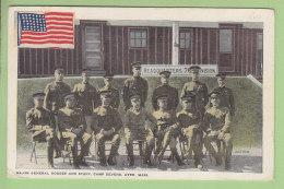 AYER, FORT DEVENS : Major General Hodges And Staff Camp Devens. 2 Scans. - Etats-Unis