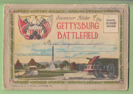 GETTYSBURG Battlefield : Souvenir Folder. Carnet Postal Avec De Nombreuses Vues. 5 Scans. - Etats-Unis