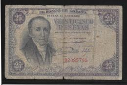 Espagne - 25 Pesetas - 1948 - Pick N°130 - B/TB - [ 3] 1936-1975 : Regency Of Franco