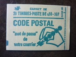 1976 Carnet CODE POSTAL Y&T= 1893 - C1 Conf 8  ** MNH - Carnets