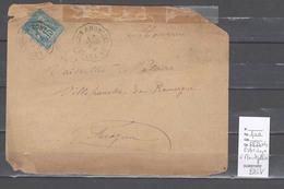Lettre Cachet Convoyeur Estrechoux à Montpellier - Indice 9 - Marcophilie (Lettres)