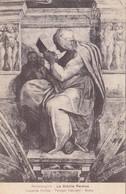 Cpa Ak Pk Michelangiolo Michel Ange La Sibilla Persica - Pittura & Quadri