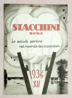 Collezionismo - Caccia - Calendario Stacchini Roma - Le Paludi Pontine - 1934 - Calendarios