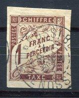 RC 8969 FRANCE COLONIES GÉNÉRALES TAXE N° 15 - 1F MARRON OBL. NOSSI-BE / ILE DE NOSSIE BE TB - Postage Due