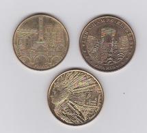 Lot De 3 Médailles 2014 - Monnaie De Paris