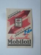 P1002.17  Old  Mobiloil  Mobil Oil  Machbox Label Sized Adevertising Paper Item Ca 1934 - Zonder Classificatie