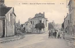 78-LIMAY- RUE DE L'EGLISE ET RUE NATIONALE - Limay