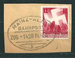 MiNr. 633 Bahnpost: MAINZ - ALZEY (b31) - Deutschland
