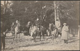 Four Burrow Fox Hunt, Scorrier House, Cornwall, 1914 - Kneebone RP Postcard - England
