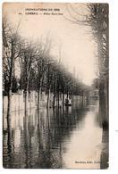 INNONDATIONS 1910 CORBEIL ALLEE SAINT JEAN BARQUE ANIMEE - Corbeil Essonnes