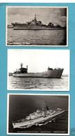 Guerre Marine Française Bateaux Contre Torpilleur Le Malin Escorteur Surcouf BDC Argens Lot De 3 Cartes (format 9X14) - Menus