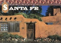 Adobe Houses With Old Spanish Courtyards, Santa Fe, New Mexico, USA Unused - Santa Fe