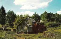 A Picturesque Rural Old Water Wheel, North Carolina, USA Unused - United States
