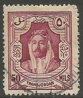 Jordan - 1930 Emir Al-Hussain 50m Used - Jordan