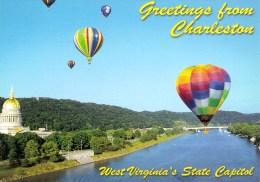 Hot Air Balloons And Capitol, Charleston, West Virginia, USA Unused - Charleston