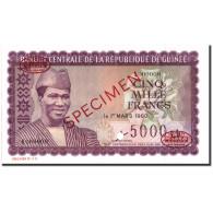 Billet, Guinea, 5000 Francs, 1960, Specimen TDLR, KM:15a, NEUF - Guinea