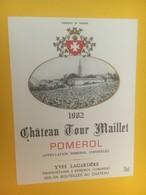 8374 - Château Tour Maillet 1982 Pomerol - Bordeaux