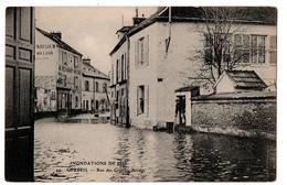 INNONDATIONS 1910 CORBEIL RUE DES GRANDES BORDES  ANIME - Corbeil Essonnes