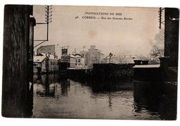 INNONDATIONS 1910 CORBEIL RUE DES GRANDES BORDES  ANIMEE - Corbeil Essonnes