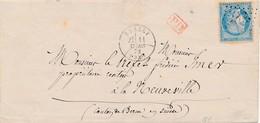 1872 LSC De Russey (GC 3249) Tarif Frontalier à 25 C Pour La Suisse TB. - 1871-1875 Ceres