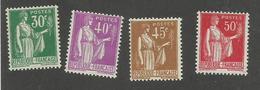 FRANCE - N°YT 280/83 NEUFS* AVEC CHARNIERE - COTE YT : 3.45€ - 1932/33 - 1932-39 Paix