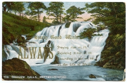 SCOUTING : LADY BADEN POWELL - THE SWALLOW FALLS, BETTWS-Y-COED / POSTMARK - FARNBOROUGH (DUPLEX) - Scoutisme