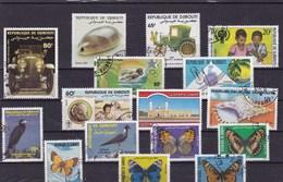 DJIBOUTI : Y&T : Lot De 16 Timbres Oblitérés - Djibouti (1977-...)