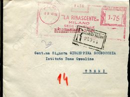 34328 Italia, Red Meter/freistempel/ema/ Milano 1940 La Rinascente Milano Sede Centrale - Affrancature Meccaniche Rosse (EMA)