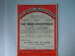 KNS Antwerpen Schouwburg Toneel Programma Met Ward De Ravet Maart 1956 Briefkaart Pre 654 Form 11,7 X 15 Cm - Programmes