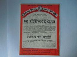 KNS Antwerpen Schouwburg Toneel Programma Met Luc Philips December 1956 Briefkaart Pre 654 Form 11,7 X 15 Cm - Programmes