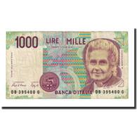 Billet, Italie, 1000 Lire, D.1990, KM:114a, TTB - [ 2] 1946-… : Républic