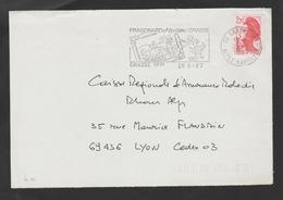 Flamme Dpt 06 : GRASSE (SCOTEM N°  8710 Du 25/07/1987 => 14/10/1987) : Fragonard Et Les Siens (DEVANT) - Marcofilia (sobres)