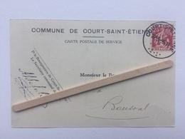 COURT -SAINT -ÉTIENNE «COMMUNE DE COURT-SAINT-ÉTIENNE COURRIER ADRESSÉ BOURGMESTRE DE BOUSVAL (1935). - Court-Saint-Etienne