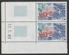 Année 1983 - N° 77 Et 78 X 2 - Conseil De L'Europe - Palais De L'Europe : Entrée Et Hémicycle - Daté 12-07-83 - Service