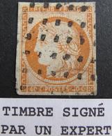 R1749/138 - CERES N°5 ☛☛☛ Timbre Signé BRUN + ROUMET (experts) - GROS POINTS CARRES + CàD ROUGE - Cote : 525,00 € - 1849-1850 Cérès