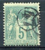 RC 8987 FRANCE 5c SAGE OBL. JOUR DE L'AN N° 47 DANS UN CERCLE TB - 1876-1898 Sage (Tipo II)