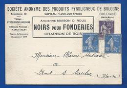 BOLOGNE   Société Anonyme Des Produits Pyroligneux    NOIRS Pour Fonderie   écrite En 1938 - Autres Communes
