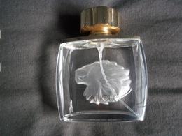 Flacon De Parfum Lalique Tete De Lion  ( Vide ) - Bottles (empty)