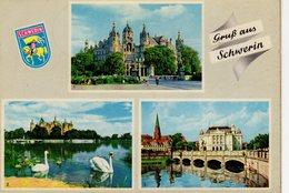 Gruss Aus Schwerin Mecklenburg  Ehemaliges Schloss Schlossteich Staatstheater - Schwerin