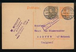 M.SCOTT - HAGENAU   - DUITSE CONTROLE STEMPEL 1916 - NAAR ASSE -  ZIE 2 AFBEELDINGEN - Asse