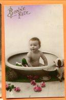 O255, Bébé Dans Une Bassine, Canard, Chien En Peluche, Bonne Fête, Circulée 1926 - Neonati