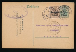 BRASSERIE DU PROGRES - LESSINES    - DUITSE CONTROLE STEMPEL 1916 - NAAR ASSE -  ZIE 2 AFBEELDINGEN - Asse