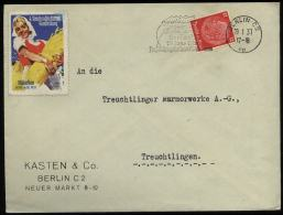 3. Reich - DR Ort Briefumschlag Mit Vignette , Reichsnährstand Ausstellung München 1937: Gebraucht Mit Werbestempel Gr - Allemagne