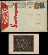 S6492 - DR MiF Auf Zirkus Sarasani Werbe Briefumschlag , Löwe ,Indianer : Gebraucht München 1929 , Bedarfserhaltung. - Storia Postale