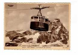 Italie Breuil Plan Maison Le Funivie Del Cervino Telepherique + Timbre Cachet Chatillon Aosta 1933 - Altre Città