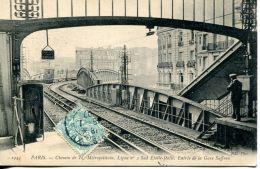 N°62533 -cpa Paris -métropolitain Ligne N°2- - Metropolitana