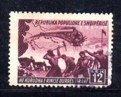438 490 - ALBANIA 1948 , Ferrovia Yvert N. 393  Usato - Albania