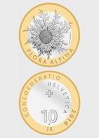 Swissmint 2018 Single Coin - Carline Thistle, BIC Uncirculated - Switzerland