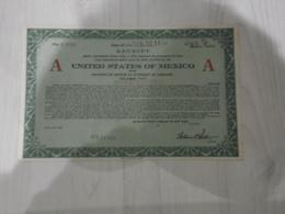 Reçu Etats-unis Du Mexique - Actions & Titres