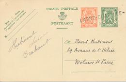 765/26 - Entier Postal Petit Sceau Annulé En FORTUNE ( Guerre 40/45 ) Par Griffe LASNE CHAPELLE ST LAMBERT 26/09/1940 - Poststempel